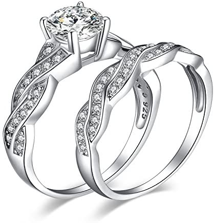 Solitaire Bridal Engagement Ring Sterling Silver Rings with Zircon Stand-in Ring Placeholder Ring Promise Ring Anniversary Rings