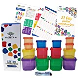 Banyan Products-21 Day Portion Control Container Set - Double Sets(14 containers) with Meal Guide / 21 Day Tally Chart and Measuring Tape and Pocket Recipe Book with 21 Recipes
