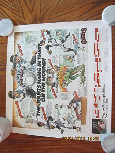 1983 San Francisco Giants schedule Pitching Poster Pstr4