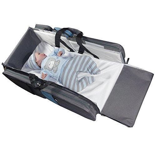 Bassinet for baby, travel bed, best portable all access diaper bag. Bonus sheet. -