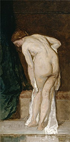 'Rosales Gallina Eduardo Female Nude (after Bathing) Ca. 1869 ' Oil Painting, 10 X 20 Inch / 25 X 52 Cm ,printed On Polyster Canvas ,this High Resolution Art Decorative Prints On Canvas Is Perfectly Suitalbe For Hallway Decor And Home Decoration And Gifts