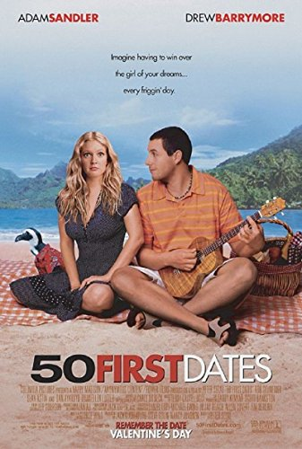 50 First Dates 2004 S/S Movie Poster 11.5x17