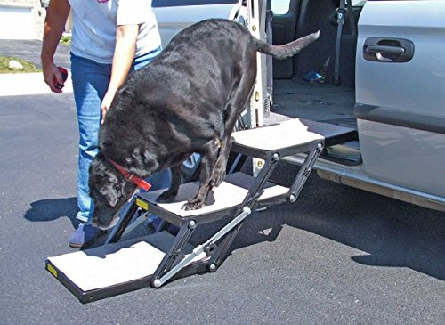 Pet Loader Dog Stairs - Mini 12'' 3-Step - for Car, Minivan, Couch, Bed or Sofa - Safe - Collapsible, Portable, Easy to Store