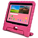Samsung Galaxy Tab 4 10.1 & Tab 3 10.1 kids case, COOPER DYNAMO Rugged Heavy Duty Children Boys Girls Drop Proof Protective Case Cover Handle, Stand SM-T530 T531 T535 GT-P5200 P5210 P5220 Pink