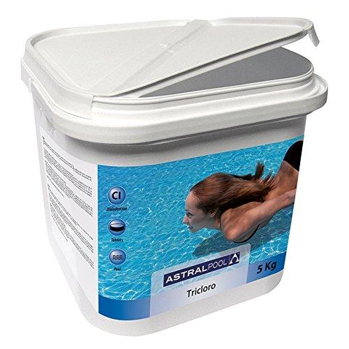 51VNtwN8LGL. SS500 Producto adecuado para la desinfección de piscinas construidas con materiales cerámicos (gresite) Tricloro en tabletas de 250 g de disolución lenta con un 90% de cloro útil Su presentación en tabletas facilita su aplicación y dosificación: se introduce la tableta en el skimmer o en el dosificador y gradualmente liberará todo su poder desinfectante