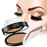 Image of Best Eyebrow Stamp for Perfect Eyebrow, 1 set Pro 3 In 1 Palette for natural looking,Waterproof Long Lasting, Enhance your eyebrow in seconds, all natural color (Light Brown)