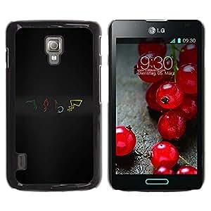 CASER CASES / LG Optimus L7 II P710 / L7X P714 / P0Kemon Elements / Delgado Negro Plástico caso cubierta Shell Armor Funda Case Cover