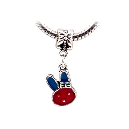 04314623c ... coupon code for bling stars animal charms crystal enamel rabbit dangle  bead fits pandora charms bracelets ...