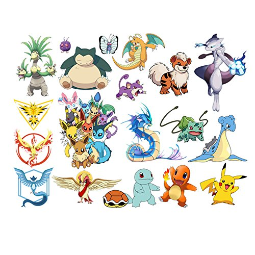 JIAHUI Nursery Decor Popular Characters Pokemon Xy Peel and Stick Wall Decal For Children Room Decal 17x9.5 inch