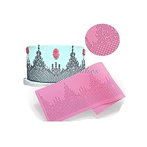 Amazon Com No Wedding Cake Lace Mat Silicone Mold Cake