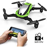 KAI DENG K100 Mini RC Drones with Camera FPV Wifi 480P , RC Quadcopter Drone for Kid & Beginners,2.4Ghz 6-Axis Gyro 4 Channels