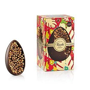 Uovo di Cioccolato Fondente Gran Nocciolato Piemonte 1kg - con Nocciole Piemonte IGP intere - Senza Glutine