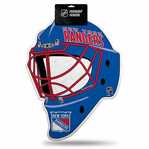 Rico Industries NHL New York Rangers Hockey Helmet Die Cut Pennant Décor
