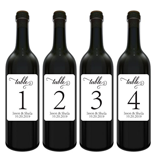 Wedding Wine Table Number Label Stickers