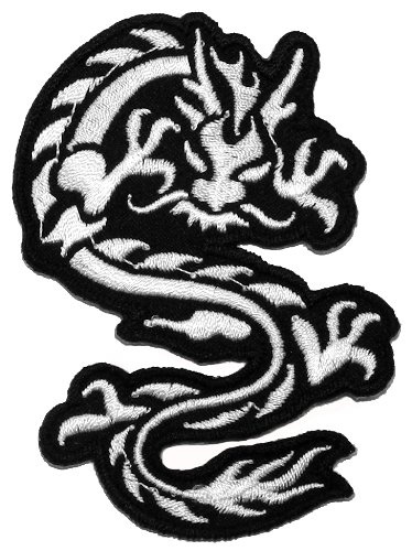 Chinese Japanese Dragon Tattoo kung fu martial arts mma DIY Applique Embroidered Sew Iron on Patch DR-001 (Japanese Martial Arts Patches)