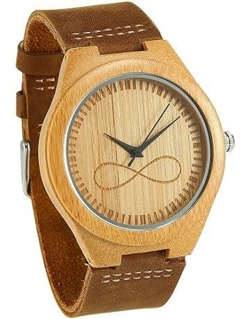 Reloj de madera para hombre Wonbee Orignal Relojes de pulsera de bambú 10816cd83bba