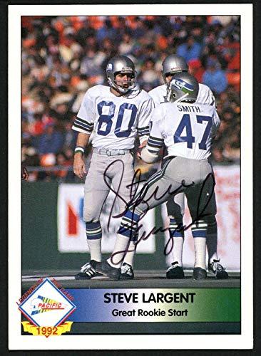 (Steve Largent Autographed 1992 Pacifc Autograph Card Seattle Seahawks #223/1000 SKU #147787 - NFL Autographed Football Cards)