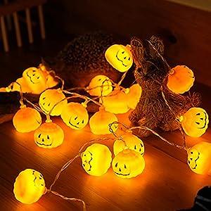E-lip Eyeball String Light, 20 LED 8.2FT Batteries Operated Globe Halloween Lights for Halloween Party Room Patio Wedding (White)
