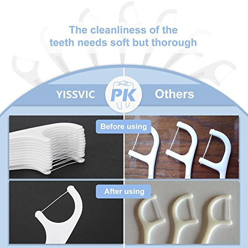 Cleanstar Floss Picks Unflavored Dental Floss Picks with 4 Travel Handy Cases | 240 Counts Pro-Health FlossPicks | Toothpick for Kid & Household &Travel 60 Pcs/4 Boxes by YISSVIC (Image #3)
