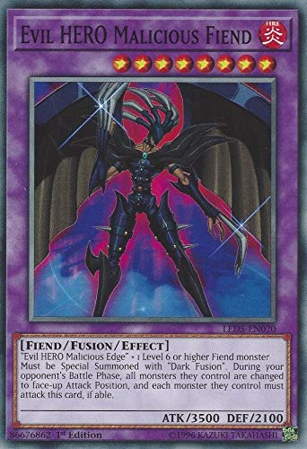 Yu-Gi-Oh! - Evil Hero Malicious Fiend - LED5-EN020 - Common - 1st Edition - Legendary Duelists: Immortal Destiny