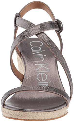 Espadrille Bellemine Anthracite Sandal Calvin Klein Women's Wedge wq0gv6vf