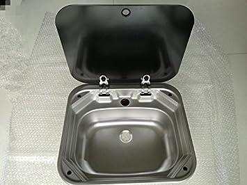 Rv Caravan Camper Edelstahl Hand Waschbecken Kuche Spule Mit Deckel