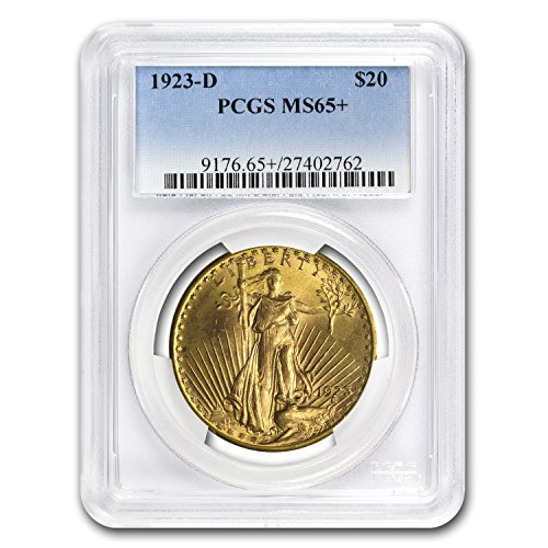 1923 D $20 St. Gaudens Gold Double Eagle MS-65+ PCGS G$20 MS-65 PCGS