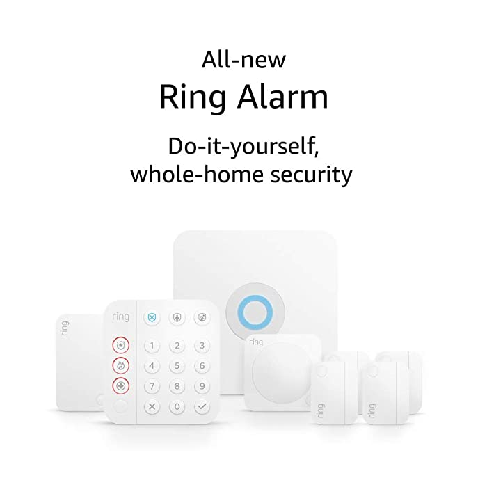 All-new Ring Alarm 8-piece kit (2nd Gen) – home security system with optional 24/7 professional monitoring – Works with Alexa