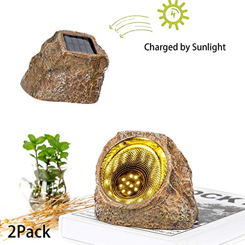 Garden Solar Stone Rock Light