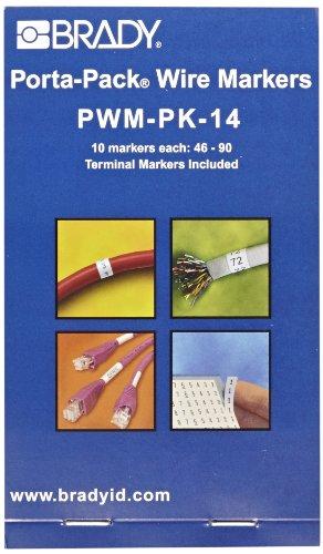 Vinyl Cloth Porta Pack - Brady PWM-PK-14 B-500 Repositionable Vinyl Cloth, Black on White Porta-Pack Wire Marker, Legend