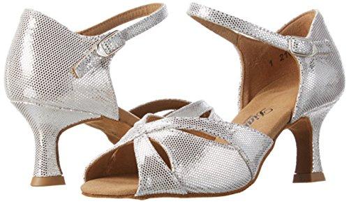 Diamant Tanzschuhe Scarpe Donna 144 Argento Tacco 246 Con 077 beige Damen OnxZrfO