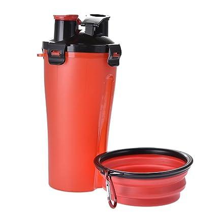 PeHtion Comida Taza de Agua para Mascotas, Botella de Agua para Beber para Perros Tazón