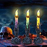 Halloween Candle Lights RIP Tombstone and Tree