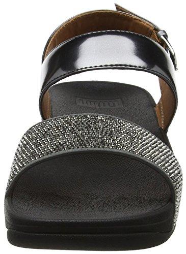 Donna Grigio Punta Fitflop Aperta pewter 054 Ritzy Back strap Sandali Y0TBwq
