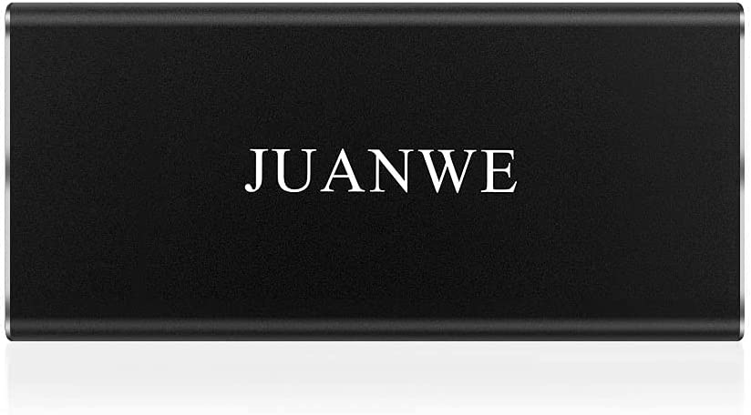 JUANWE 500GB Solid State External Hard Drive USB 3.0 Type-C Portable SSD High-Speed Read Up to 540MB/s, External Hard Drive for PC/Laptop/Mac, Black