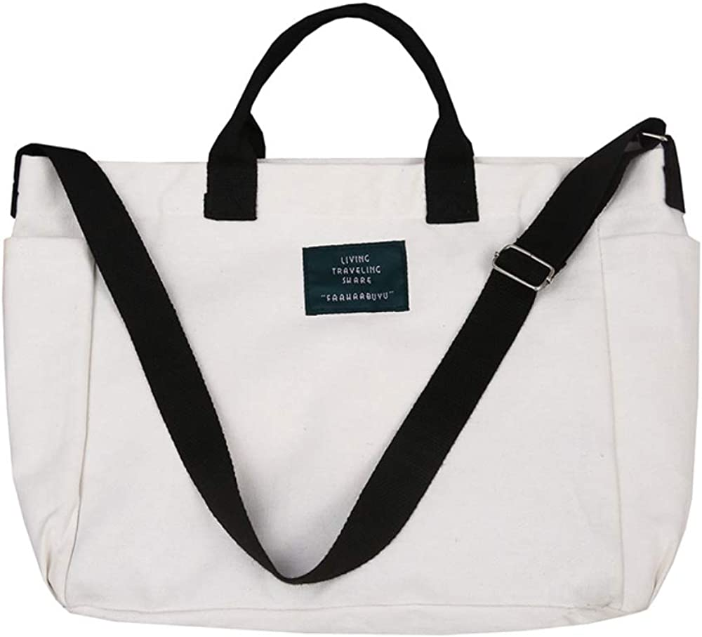 Women Crossbody Canvas Tote...