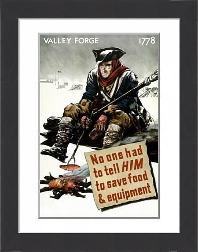 Framed Print of World War II poster of a Revolutionary War