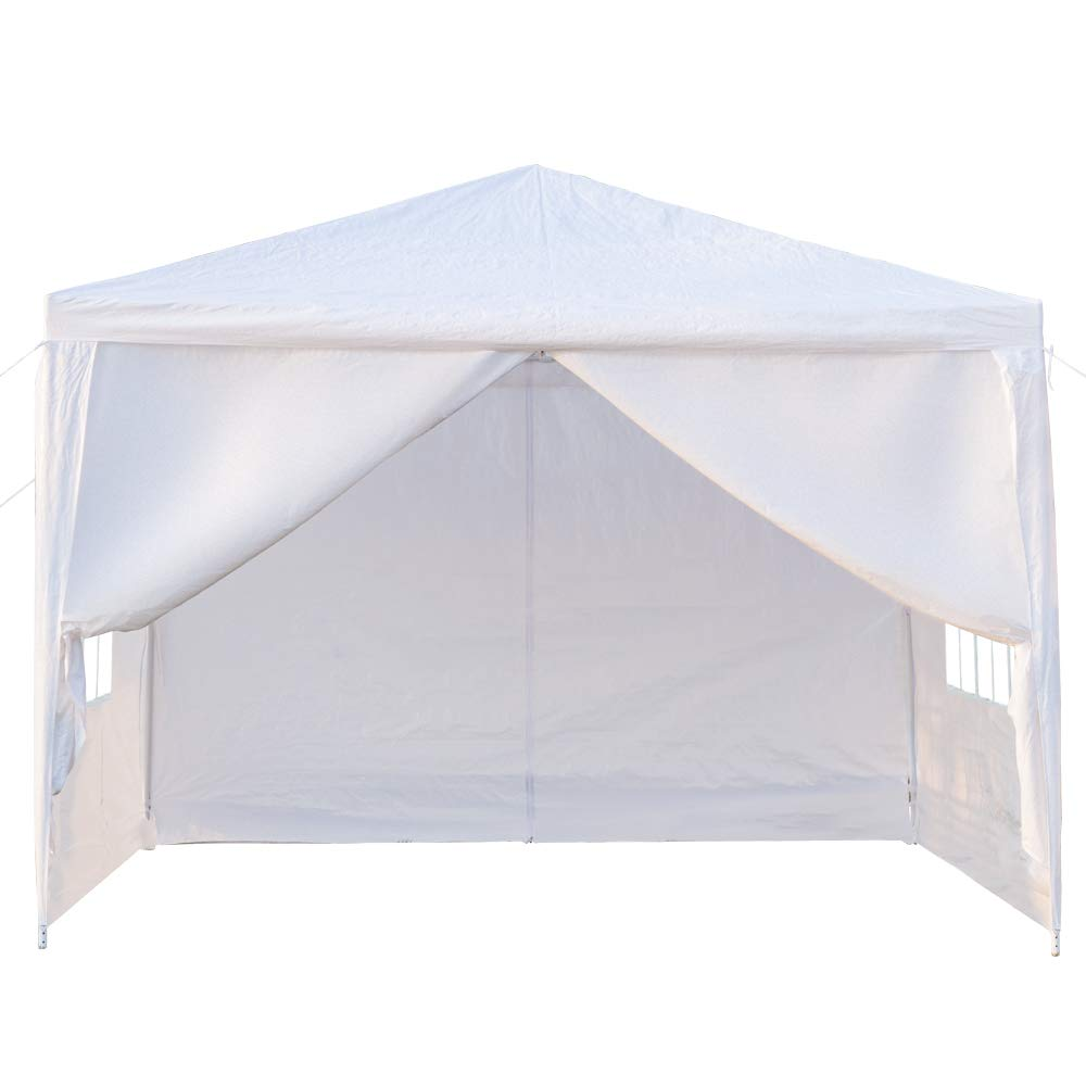 Teekland 3 x 3m Practical Outdoor Gazebo Canopy,Outdoor Canopy Party Wedding Tent,Sunshade Shelter,Outdoor Gazebo Pavilion with 4 Removable Sidewalls Upgraded Thicken Steel Tube