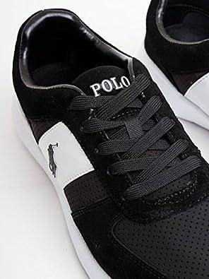 Ralph Lauren CORDELL-SK-ATH Sneakers Hombre BLK 42: Amazon.es ...