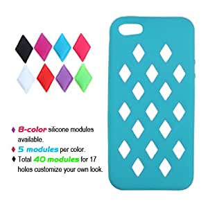 MyBat Tropical Module Skin Cover for Apple iPhone 5S/5 - Retail Packaging - Teal