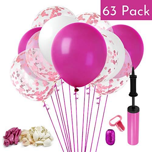 60pcs Pink 12 Inch Metallic Confetti