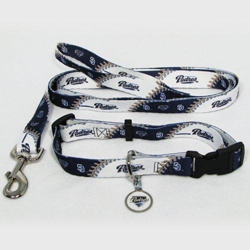 Hunter San Diego Padres Pet Set Dog Leash Collar ID Tag Small
