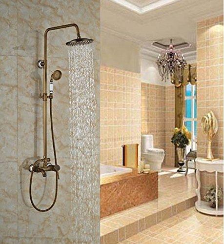 GOWE Modern Single Handle Antique Brass Shower Jet Bath Sink Shower Faucet Wall Mounted Tap 0