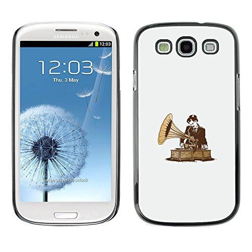 / PHONE CASE GIFT // Duro Estuche protector PC Cáscara Plástico Carcasa Funda Hard Protective Case for Samsung Galaxy S3 / DJ Vintage