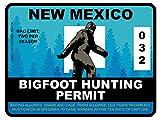 Bigfoot Hunting Permit - NEW MEXICO (Bumper Sticker)