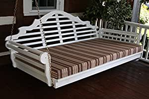 4 Foot Outdoor Swing Bed Mattress Cushion 4 INCHES THICK *Sundown Material*- Gray