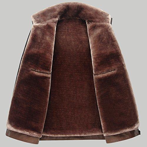 Stile Models Cappotti Da Giacca Invernali b Calda Donna Uomo In Spessore Casual Di Peso Brown qE6wv