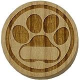 猫用 桐製乳歯ケース【高級桐天然木使用】/マルチケースとしてもお使いいただけます。 (肉球)
