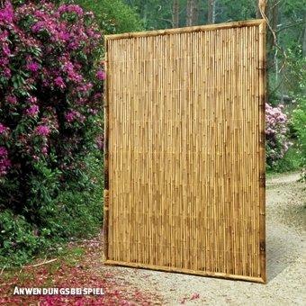 Videx-ZEN Bambus-Sichtschutzelement, geschlossen, 90 x 180cm