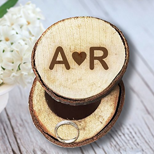 Engage Initials to Wooden Ring Box Rustic Wedding/Valentines and Anniversary Ring Box Personalized Memory for Wedding - Tiffanys Co Uk